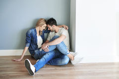 Couple at the new home Stock Photo