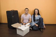 Couple in new house Royalty Free Stock Photography