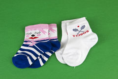 Couple of new porn baby socks Royalty Free Stock Photography