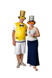 Couple and New Year Royalty Free Stock Photo