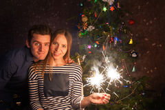 Couple new year Stock Photos