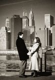 Couple on New York Bridge Stock Photography