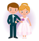 Couple newlyweds bride and groom Royalty Free Stock Image