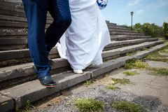 A couple of newlyweds royalty free stock images