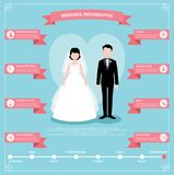Infographics planning wedding flat vector illustration vector illustration