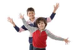Couple of nice kids Stock Photo