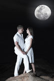 Couple at night Stock Image