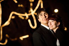 Couple at night. Groom and bride at night Stock Photo