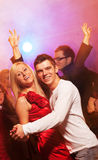 Couple in the night club. Happy couple in the night club Stock Photography