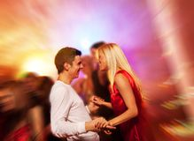Couple in the night club. Happy couple in the night club Stock Photo