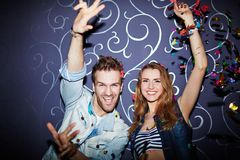 Couple in night club Royalty Free Stock Images