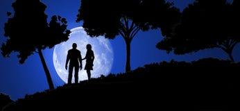 Couple in night Stock Photo
