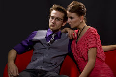 Couple on night out Royalty Free Stock Image