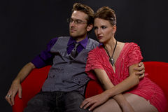 Couple on night out Royalty Free Stock Images