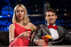Couple in a nightclub Stock Image