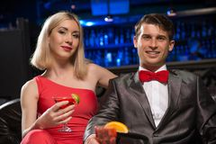 Couple in a nightclub Royalty Free Stock Photos