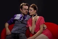 Couple on nightout/date Royalty Free Stock Image
