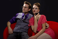 Couple on nightout/date Royalty Free Stock Images