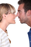 Couple with noses together Royalty Free Stock Images