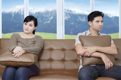 Couple not speaking to each other Stock Images