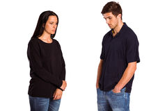 Couple not talking after argument Stock Photography