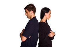 Couple not talking after argument Stock Photo