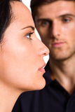 Couple not talking after argument Royalty Free Stock Photography