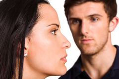 Couple not talking after argument Stock Images