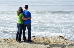 Couple At Ocean Royalty Free Stock Photo