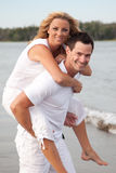 Couple at the seaside Stock Photography