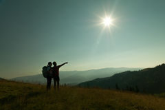 Free Couple Of Hikers Royalty Free Stock Images - 71948769