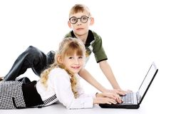 Couple Of Pupils Royalty Free Stock Photo