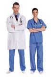 Couple Of Young Doctors Stock Photo