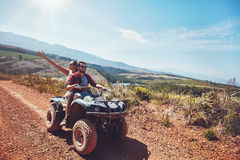 Couple on an off road adventure Stock Photos