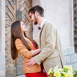 Couple in old city Royalty Free Stock Photography