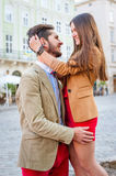 Couple in old city Stock Image