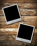 Couple Old Polaroid photo frame Stock Photography