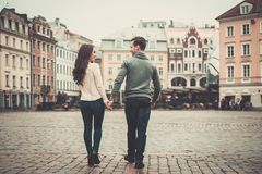 Couple in old town Stock Image
