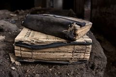 Couple of old worn prayer-books Royalty Free Stock Photo