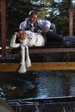 Couple On A Bridge Royalty Free Stock Photo