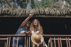 Free Couple On A Honeymoon Trip Royalty Free Stock Image - 115363486