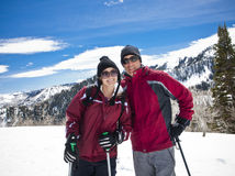 Couple On A Ski Vacation Royalty Free Stock Image