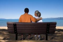 Free Couple On Bench Royalty Free Stock Photos - 6401178