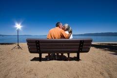 Free Couple On Bench Stock Photos - 6401503