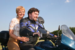 Couple On Bike Stock Photos