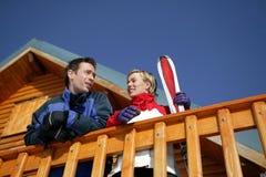 Couple On Ski Vacation Stock Photos