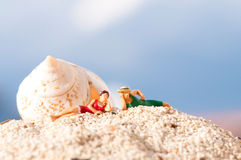 Couple ona a beach Royalty Free Stock Photography