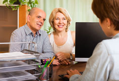 Couple Opening Account In Bank Stock Images