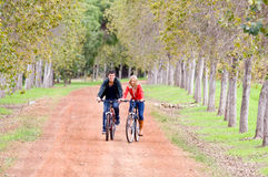 Couple Out Cycling Stock Image