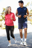 Couple out for a run Royalty Free Stock Images